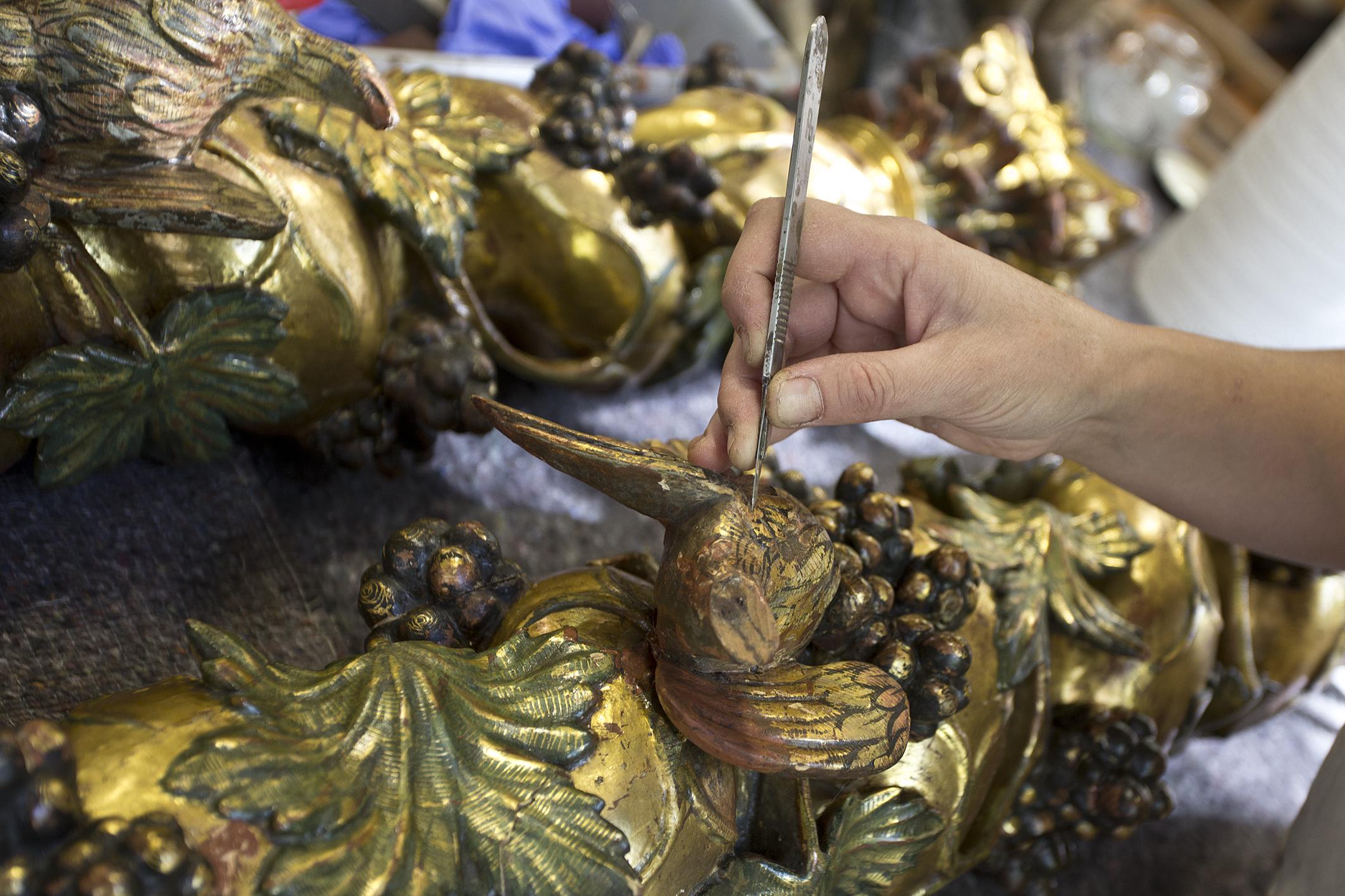 restauración de arte, restauraciones de arte, conservación de arte, conservaciones de arte, escultura